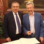 Генеральный консул РФ в Палермо Владимир Коротков и мэр г. Монреале Филиппо ди Маттео