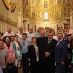 Российская делегация с мэром г. Монреале (Палермо) и отцом Николой в соборе Монреаля