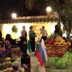 Не с пустыми руками уехали домой и некоторые гости - счастливцам были вручены большие корзины с продуктами