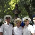 Среди почетных гостей — командование БДК Черноморского Флота России «Цезарь Куников»