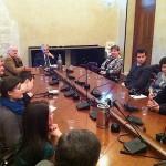Во встрече также участвовала делегация факультета архитектуры Государственного университета по землеустройству (Москва)