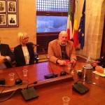 На встрече с проректором УНИПА по международным связям П.Ассеннато состоялся заинтересованный обмен мнениями о дальнейшем развитии связей