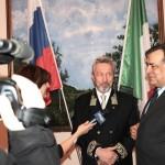 Интервью Генконсула Владимира Короткова и мэра Леолуки Орландо телевидению Сицилии