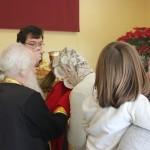 Вместе с иеромонахом Антонием сослужили схииеромонах Ермоген из Новоспасского монастыря Москвы