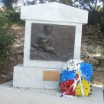 Совместный венок от соотечественников России и Украины к памятнику Русским Морякам в Реджо-Калабрии