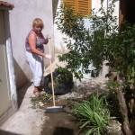 ... очистили боковую улицу от накопившихся сорняков и разного хлама