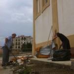 .... убрали кучу мусора вокруг церкви